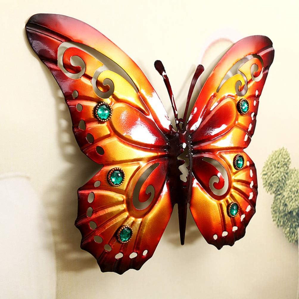 YARNOW D/écoration Murale Papillon en Fer D/écoration Murale De Jardin Ext/érieur Papillon en M/étal Marron