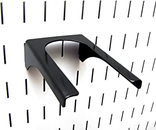 product image for Wall Control Pegboard 2in Handle Pegboard Bracket Slotted Metal Pegboard Hook Pegboard and Slotted Tool Board – Black