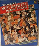 "1991 World's Most Difficult Jigsaw Puzzle "" Cats Edition "" Double Sided - 529..."