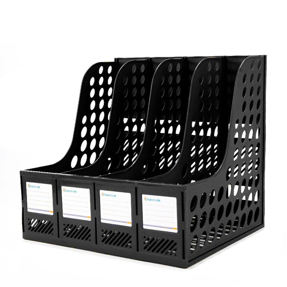 Lagerregal Student Book Stand-Datei, Desktop-Ordner Aufbewahrungsbox (Farbe (Farbe (Farbe   SCHWARZ, größe   24  25.5  31cm) B07M7VFHL6 | Sale Outlet  a364dd