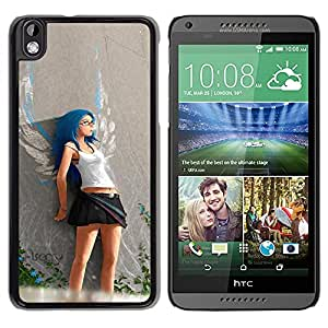 Be Good Phone Accessory // Dura Cáscara cubierta Protectora Caso Carcasa Funda de Protección para HTC DESIRE 816 // Cute Angel Girl