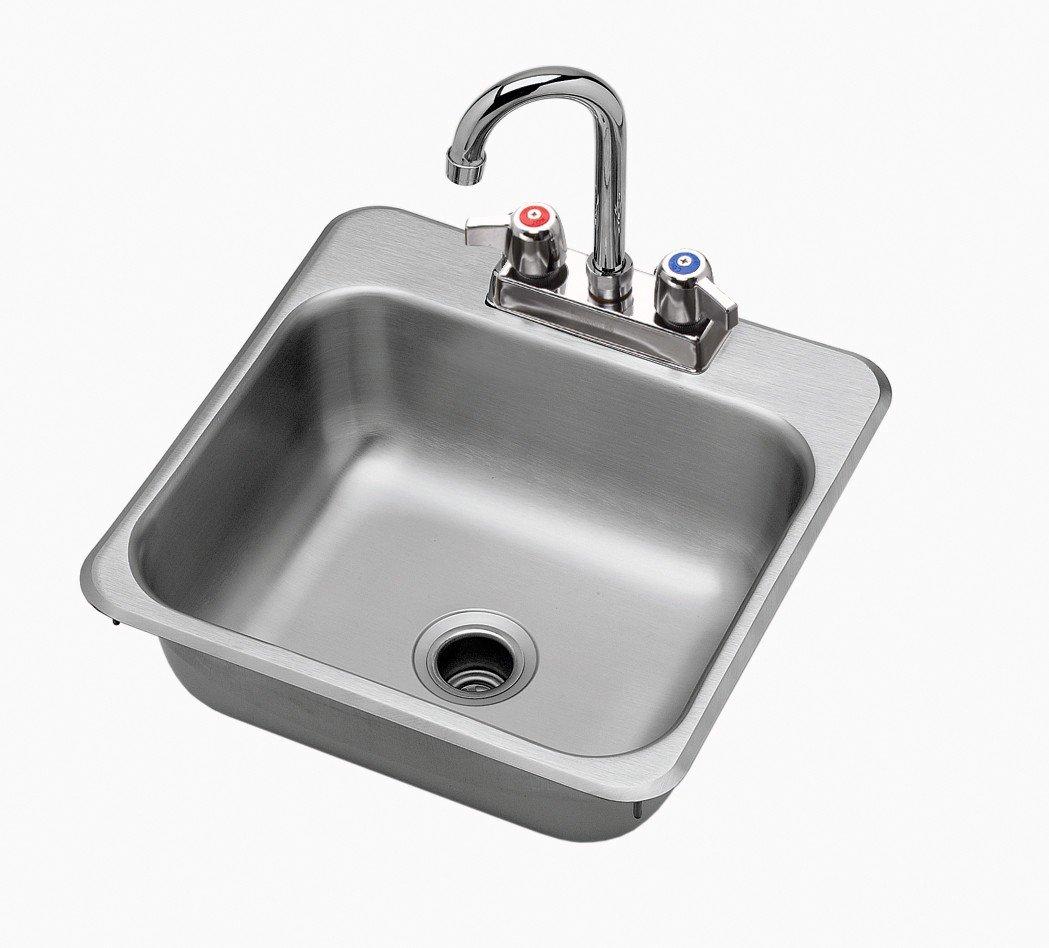 Amazon com krowne hs 1515 15 x 15 drop in hand sink kitchen dining