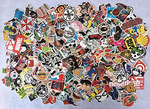 400PCS Random Decal Graffiti Sticker Bomb laptop Waterproof Stickers Skate mix lot