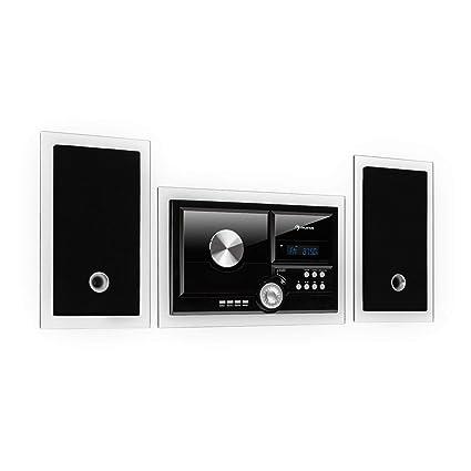auna Stereosonic Stereo System - Minicadena estéreo , Equipo de música , Reproductor de CD , Puerto USB , Interfaz Bluetooth , AUX , Instalación en ...