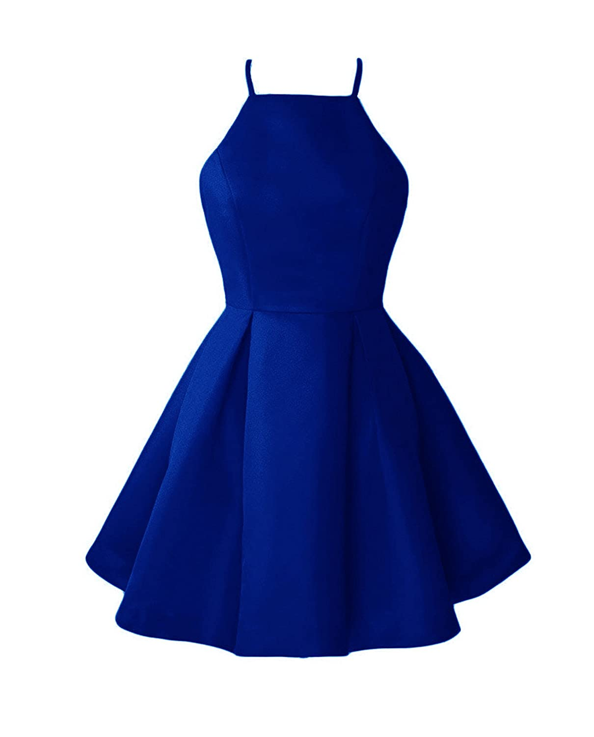 Broyal bluee WHZZ Womens ALine Homecoming Dresses Mini Short Cocktail Party Dresses