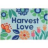 Jellybean Harvest Love Garden Indoor/Outdoor Machine Washable 21'' x 33'' Accent Rug