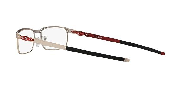 3229efaa7f Oakley TINCUP OX3184-318407 Eyeglasses SATIN CHROME 52mm at Amazon Men s  Clothing store