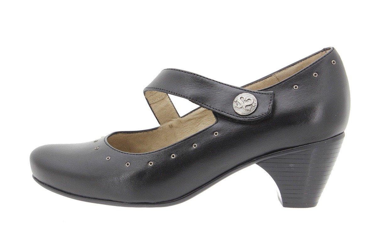 PieSanto Women's 9403 Black Leather Mary-Jane Comfort Extra Wide 37 W EU (6.5-7 C/D US Women)