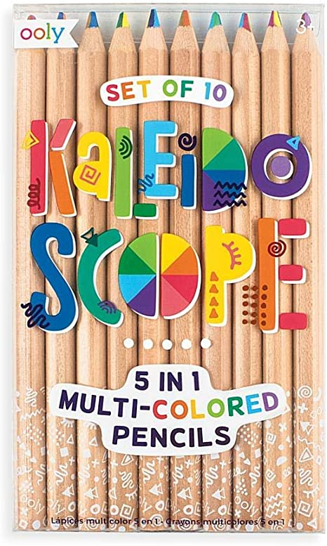 Showvigor Rainbow Colored Pencils 4 in 1 Color Pencil Set With Vibrant Color Combinations For Drawing Coloring and Sketching 10pcs Wooden Pencils For Kids