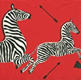Cocktail Napkins Holiday Parties Christmas Parties Black and White Party Weddings Zebra Red Pk 40