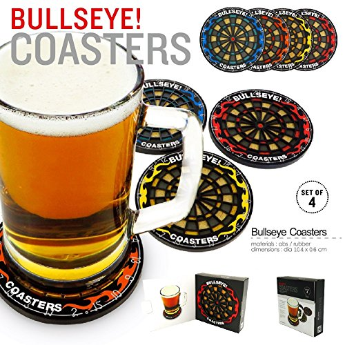 Drink Coasters Unique Sets For Hot & Cold Beverage Use Best For Men And Women At Home & Office Or Wedding Party, Cute Cool Non Slip Round Beer Coasters Custom Coasters (Set Of 4) -