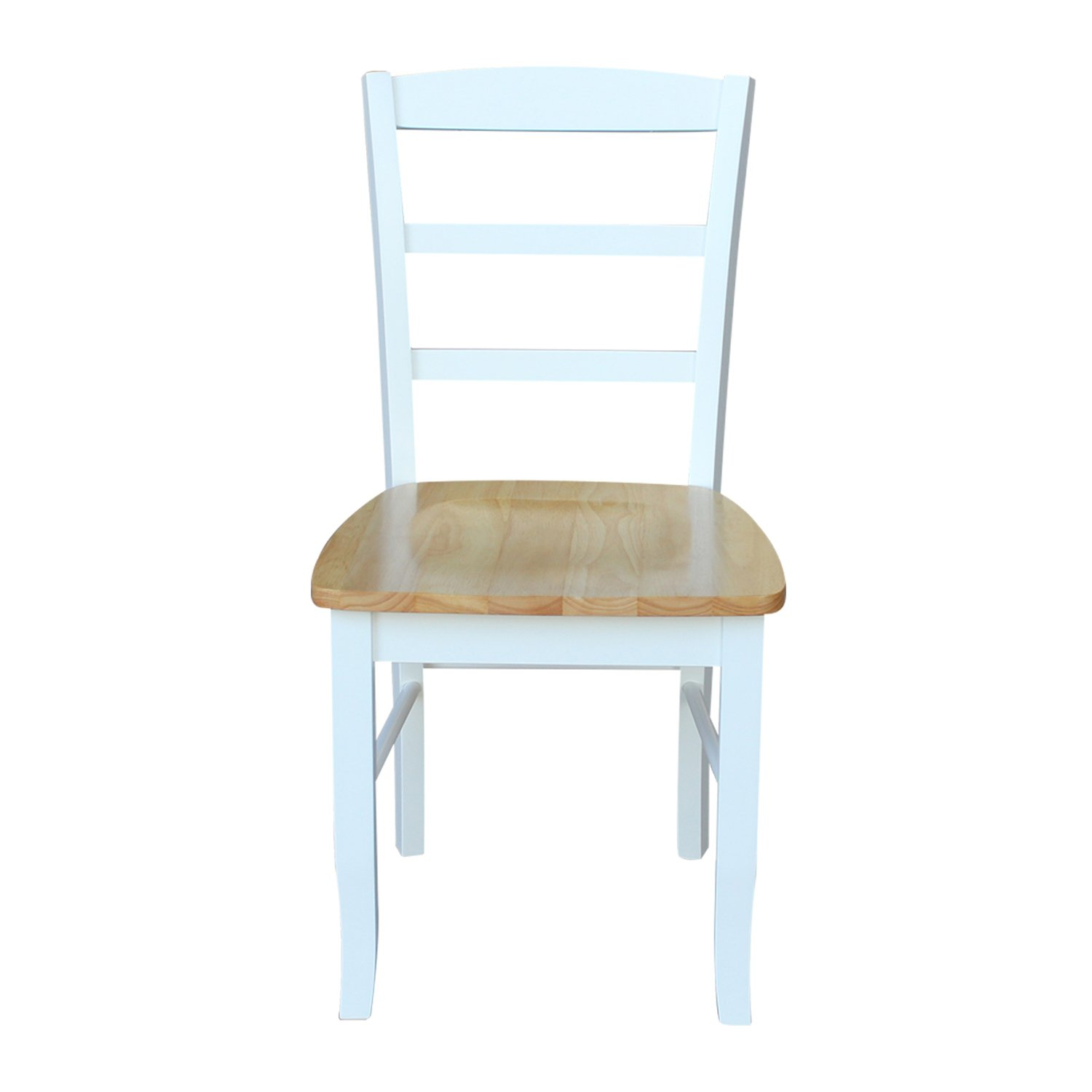 International Concepts Madrid Ladder-Back Chair w Wood Seat – Set of 2