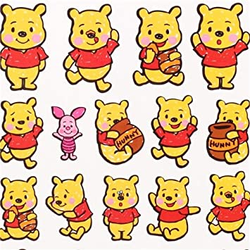cbc4686afdcd cute Winnie the Pooh sticker from Japan kawaii  Amazon.co.uk  Toys   Games
