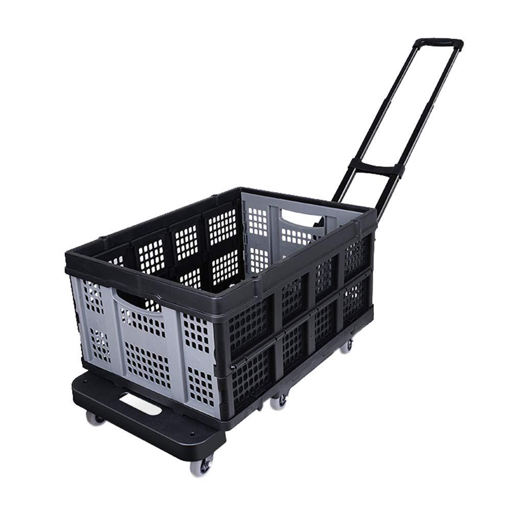 小さなトロリー、創造的な折り畳みの小さなカート - ホームショッピングミニバン - 荷物用のトロリー車 - 食料雑貨の小さなトレーラー No accessories blue B07MMSLXV7