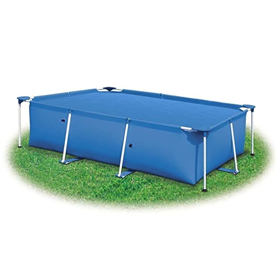 Tidyard Cobertor Piscina Hinchable Cubierta Rectangular de PE de Piscina Azul 450 x 220 cm