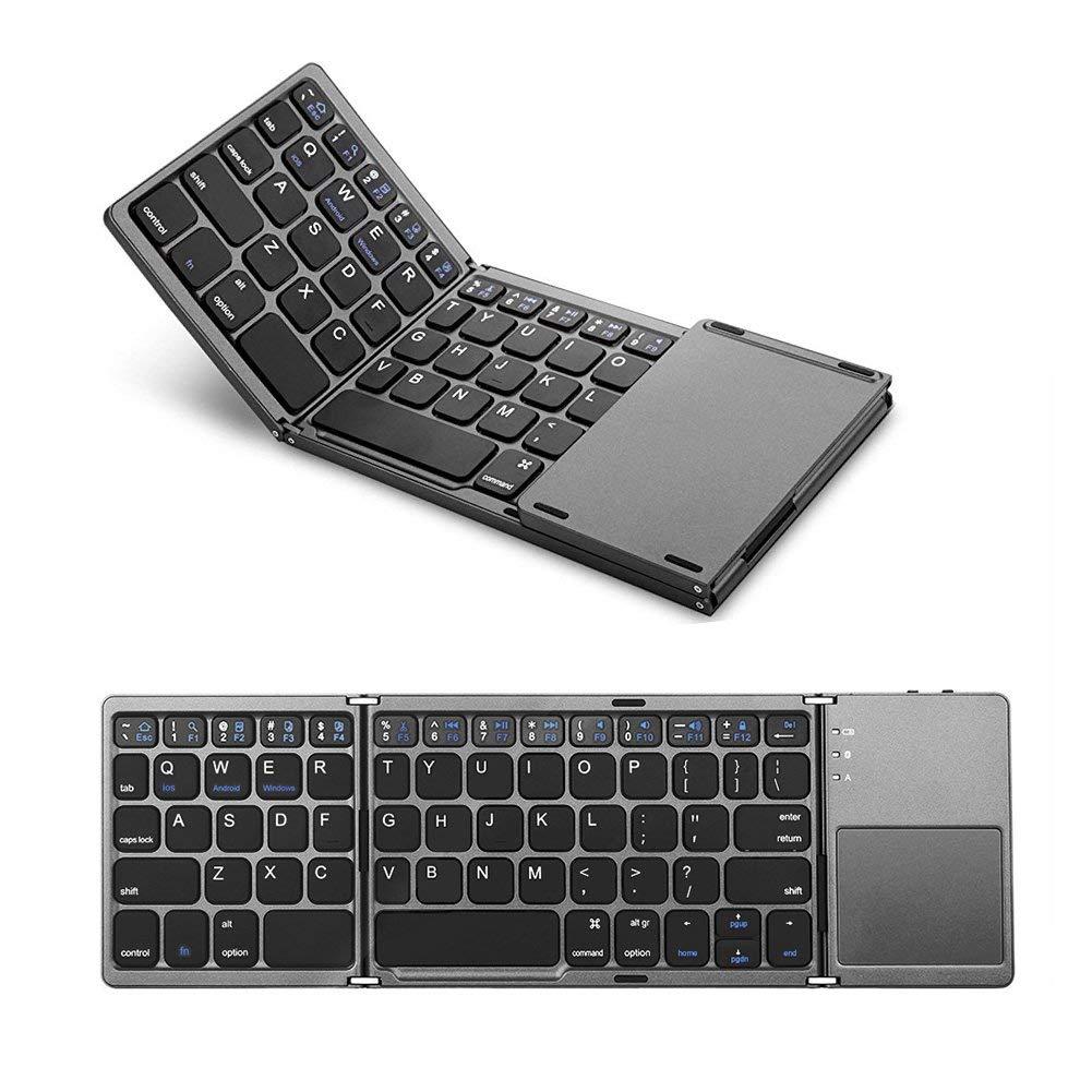 折りたたみ式 Bluetoothキーボード タッチパッド搭載