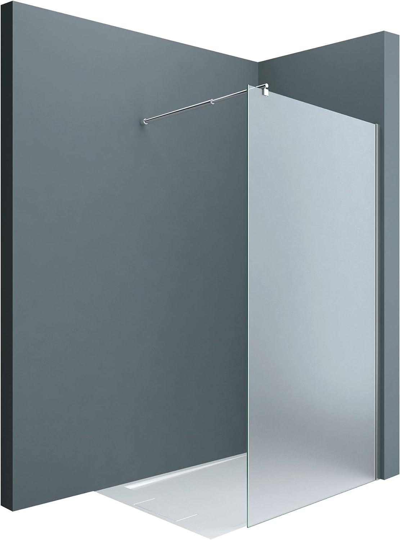 Sogood: Lujosa Mampara/Panel de ducha de vidrio transparente, diseño Bremen2VS 100x200 Estabilizador redondo de cristal auténtico de 10 mm Cristal de seguridad templado Nano - revestimiento incluido: Amazon.es: Bricolaje y herramientas
