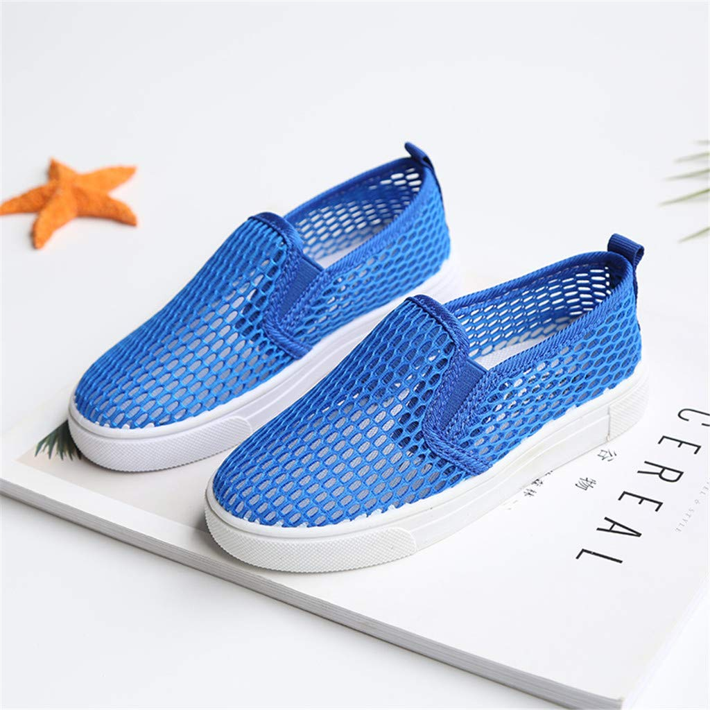 Suma-ma Childrens Fashion Flat Sport Shoes Kids Breathable Mesh Hollow Out Sneakers Casual Anti-Slip Shoes
