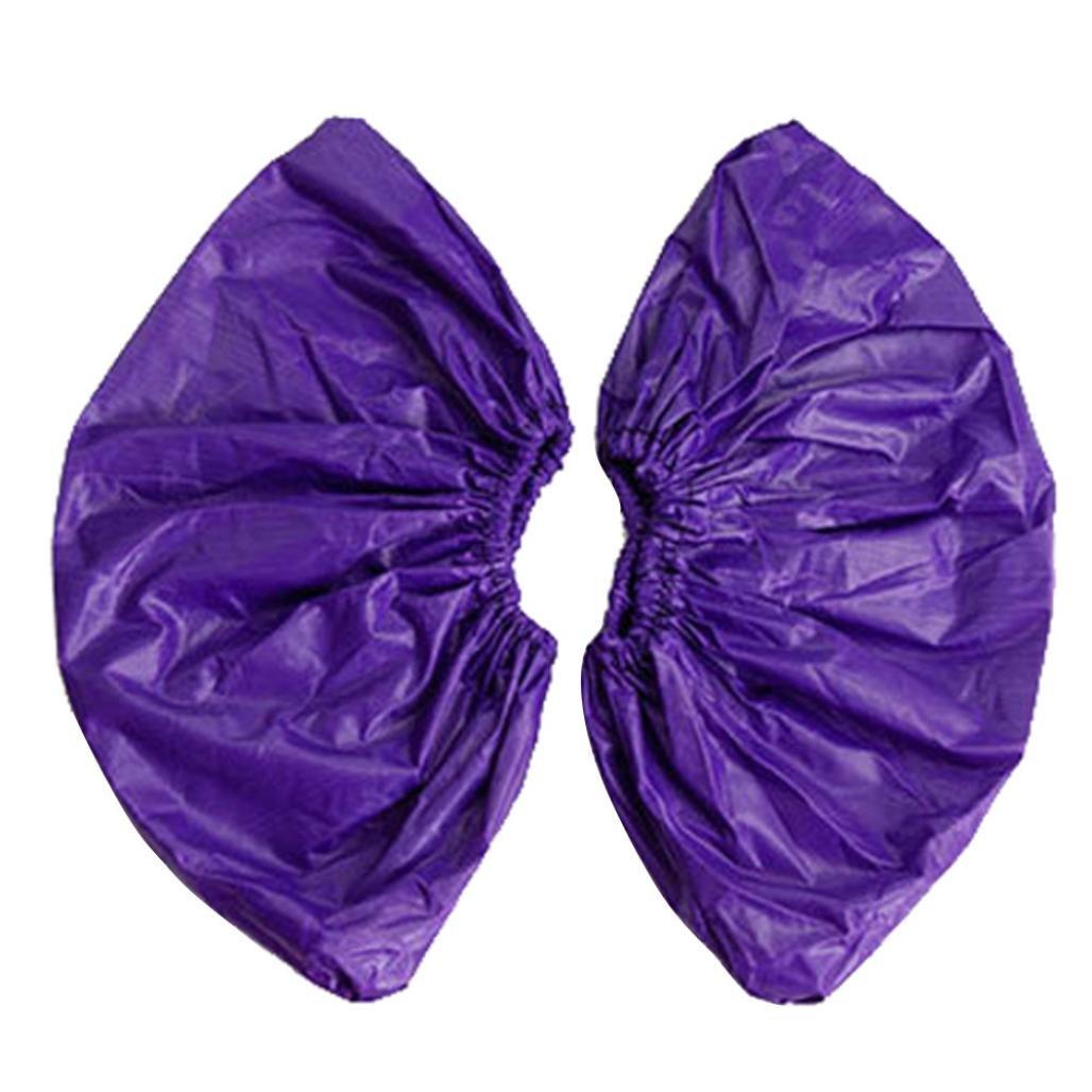 Sothread 1 Pair Unisex Reusable Waterproof Wearproof Non-slip Rain Overshoes Shoes Cover Red