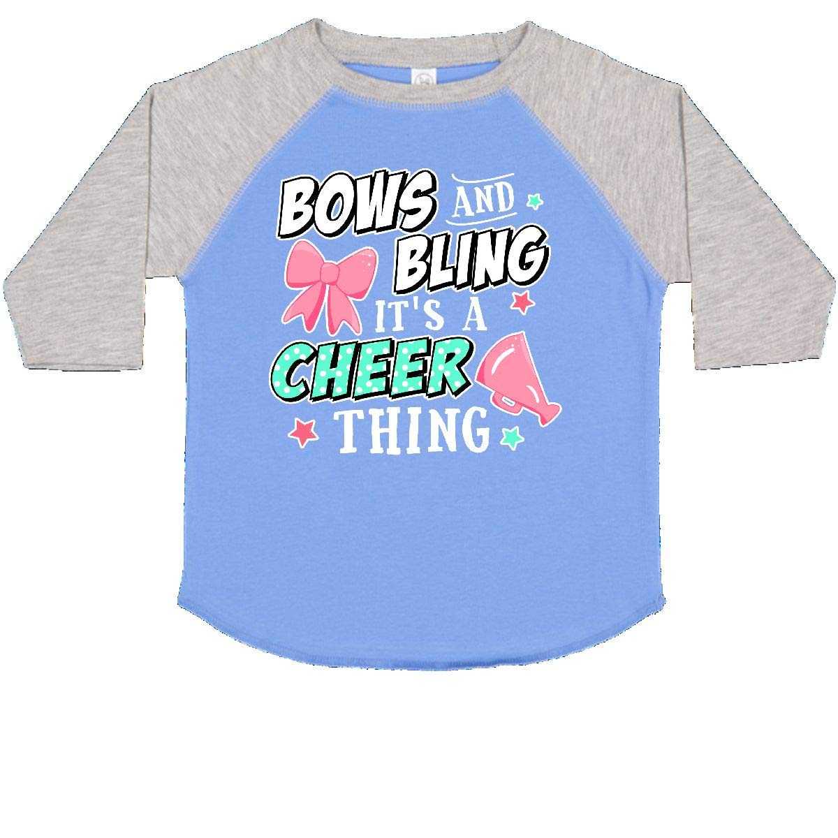inktastic Bows and Bling Its a Cheerleading Thing with White Toddler T-Shirt
