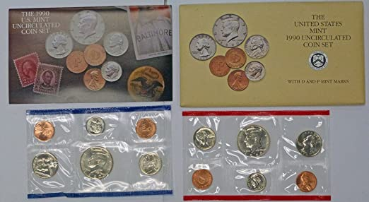 P /& D Mint Uncirculated Coin Set East Coast Coin /& Collectables 1990 U.S Inc