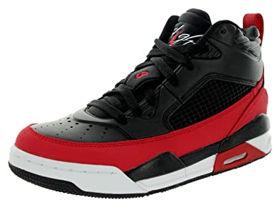 6c5a86bf845 Jordan Nike Kids Flight 9.5 Bg Black/Gym Red/White Basketball Shoe 7 Kids