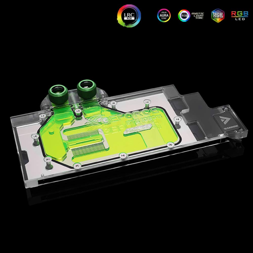 GPU Copper RBW LED Water Cooling Block for NVIDIA Quadro RTX5000 RTX6000 RTX8000 M6000 (M6000 GPU Block) by Barrow