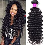 Tinashe Brazilian Human Hair Deep Wave 1 Bundles Deal 100 Unprocessed Virgin Deep Curly Hair Extension 8-28inch Soft and Smooth (18 inch 1 bundles) For Sale