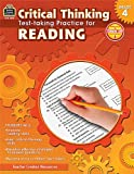 Critical Thinking: Test-Taking Practice for Reading Grade 4, Julia McMeans, 1420639137