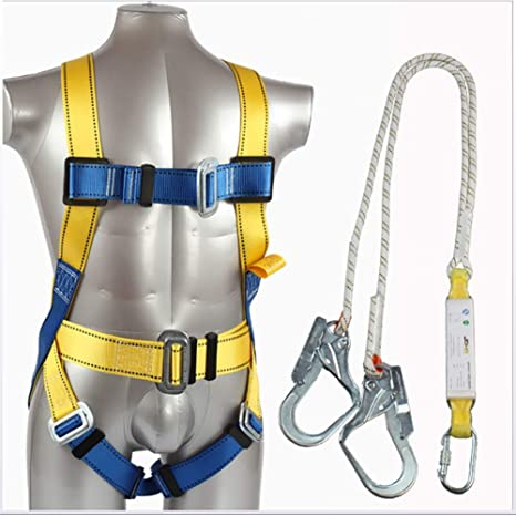 ZLQF Arnés de Escalada Set, Arnés+Cuerda de Seguridad (1.8 m) para ...