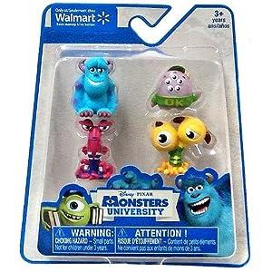Disney / Pixar Monsters University Exclusive Mini Figure 4-Pack Sulley, Terri & Terry, Scott