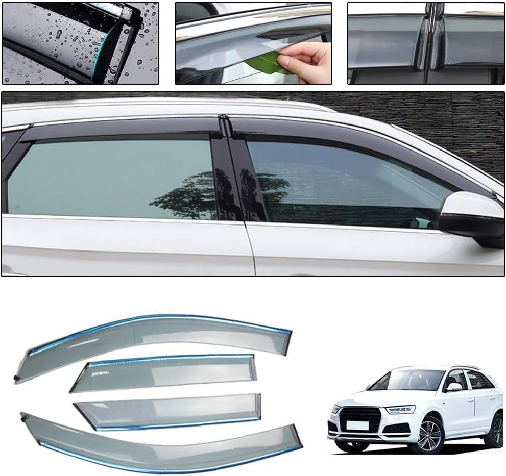 Rain Guards Visor 4pcs Out-Channel Deflector For Audi Q3 2017-2018