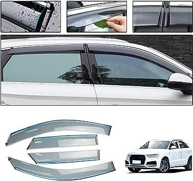 Car Styling Smoke Window Sun Rain Visor Deflector Guard for Audi Q3 2013-2018 NOT in Channel rain Guards 4-Piece Set