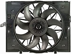 OEM 17427543282 Radiator Brushless Motor Cooling Fan for BMW E60 E61 E63 E64 E65 E66 525 545 645 750