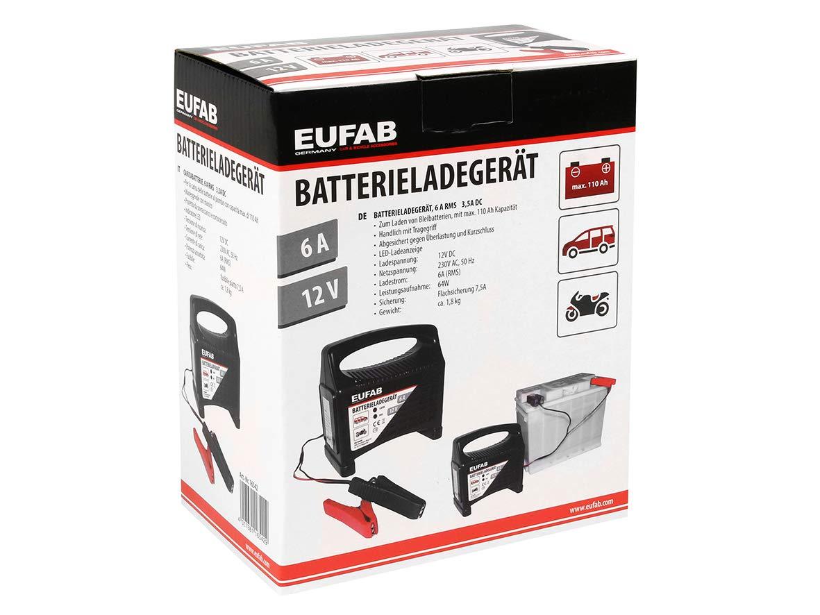 Cargador para bater/ías Eufab 16542 CBC 6 6 A, 12 V