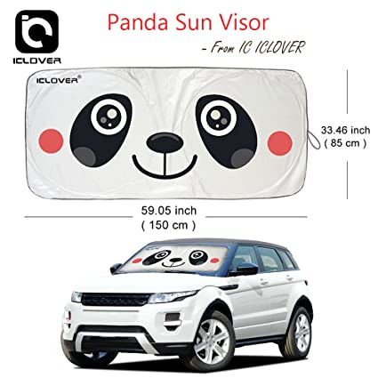 Amazon Com Ic Iclover Car Windshield Sunshade Cartoon Design Front
