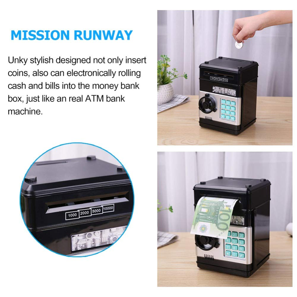 Savings Piggy Bank for Kids Children,Boxwinds Musical Security Safe Money Box with Password Multi-button Electronic Number Bank Piggy Bank ATM Mini Coin Banks Gifts for Kids Children for Birthday Gifts