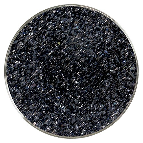 96 Coe Glass Medium (Black Iridescent Medium Frit - 4oz - 96COE - Made from System 96 Glass)