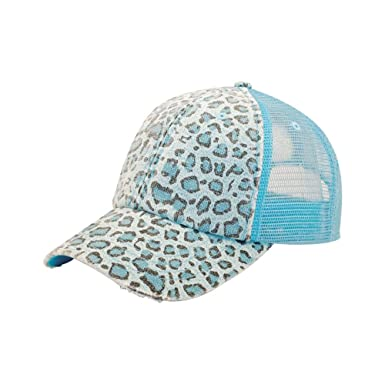 mg baseball hat midget caps tf cap women print mesh canvas trucker blue leopard