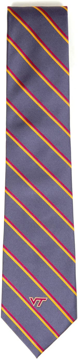 Gray Donegal Bay NCAA Virginia Tech Hokies Unisex Virginia Tech Hoakies Charcoal Stripe NecktieVirginia Tech Hoakies Charcoal Stripe Necktie One Size