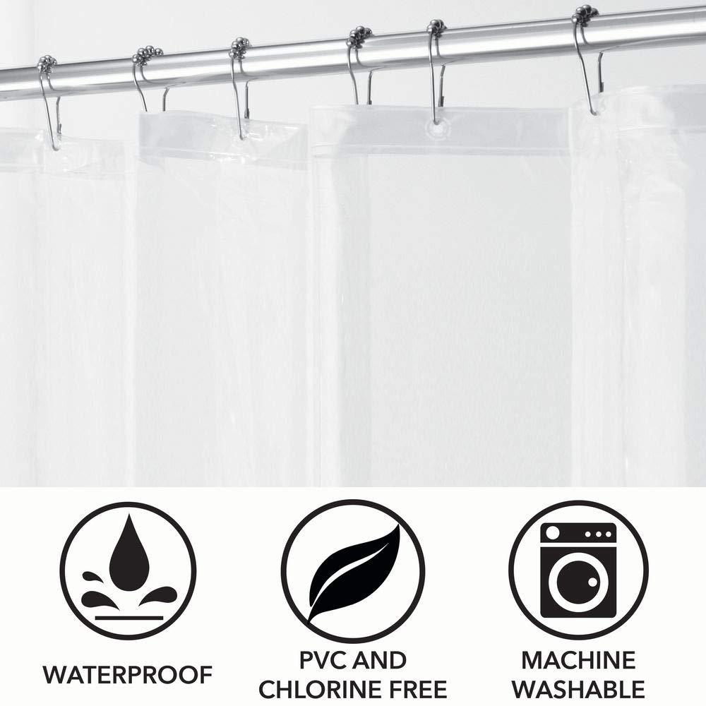 mDesign 2er Set PVC-freier Duschvorhang aus PEVA geruchloser wasserfester