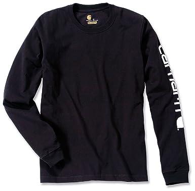 rencontrer affdd af053 Carhartt Logo Manches Longues en Coton à Manches Longues t-Shirt 100% EK231