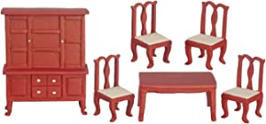 Aztec Imports, Inc. Dollhouse Miniature 6-Pc. 1/24 Scale Dining Room Set