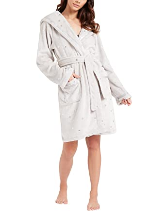 Lipsy Women\'s Dressing Gown - Grey - L: Amazon.co.uk: Clothing