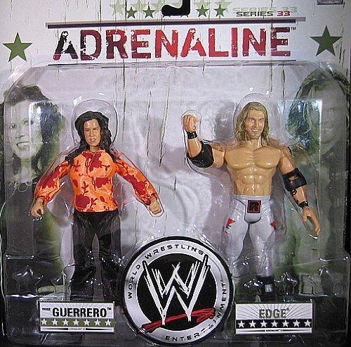 EDGE & VICKIE GUERRERO ADRENALINE 33 WWE JAKKS ACTION FIGURE 2 PACK **IN STOCK**