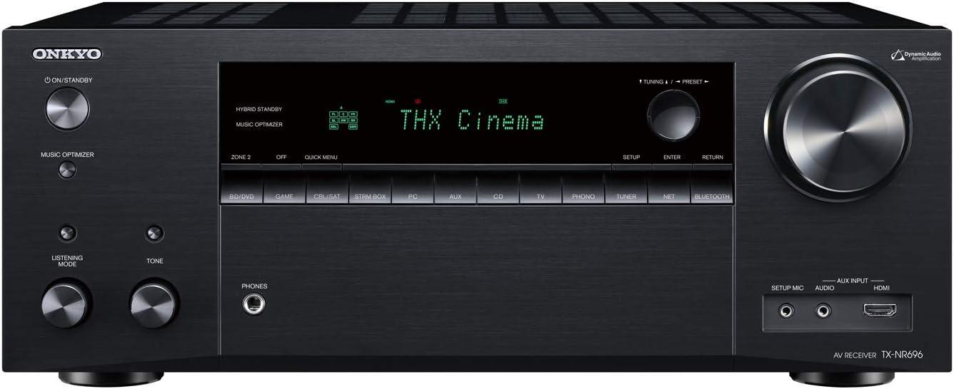 Onkyo TX-NR797 Smart AV 9.2 Channel Receiver with 4K Ultra HD | Dolby Atmos | AirPlay 2 | IMAX Enhanced (2019 Model)