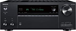 Onkyo TX-NR696 Home Audio Smart Audio and Video Receiver, Sonos Compatible and Dolby Atmos Enabled, 4K Ultra HD and AirPlay 2 (2019 Model),Black