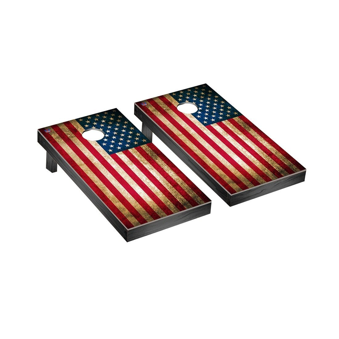 US Vintage Flag Regulation Cornhole Game Set by Victory Tailgate