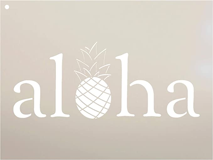 Reusable Stencils for Painting Create DIY Aloha Beaches Hawaii Home Decor Aloha Beaches Hawaii Stencil
