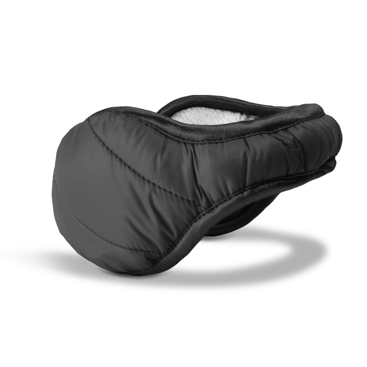180s Women's Down Ear Warmers (Black With White Interior)